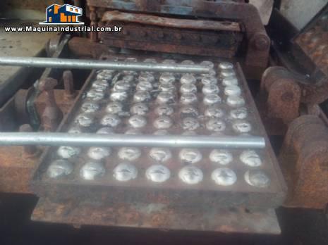 Forno industrial continuo para biscoitos wafer com placas para bombons