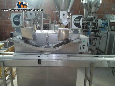 Dosadora / Pesadora com celula de carga e silos duplos em aço inox marca Donar