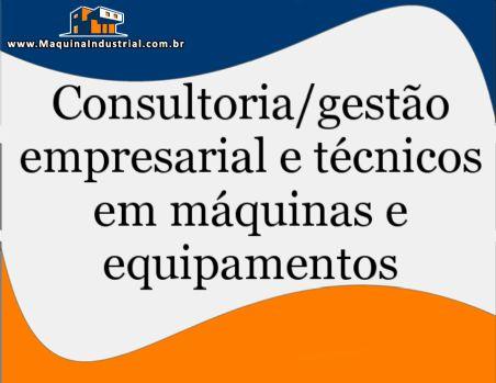 Técnico / Consultoria em máquinas e equipamentos na área de alimentos