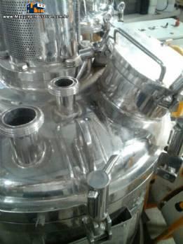 Reator de pressão inox 316 L 140 litros com agitador e homogenizador Inoxil