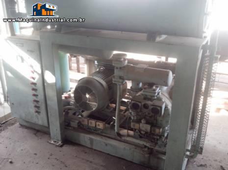 Compressor Sabroe para amônia com chiller