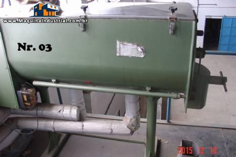 Misturador industrial Ribbon Blander em inox encamisado para 300 litros