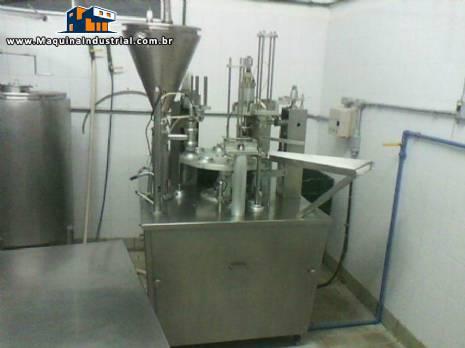 Maquina de envase de copos requeijão cremoso Brasholanda