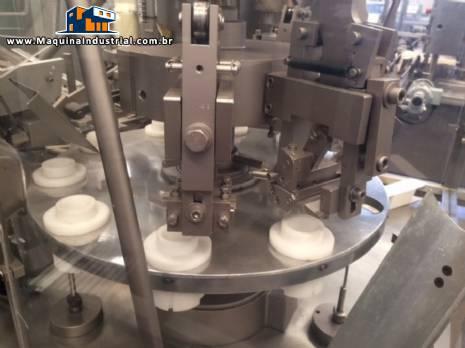 Envasadora e fechadora automatica de bisnaga de alumínio Comadis